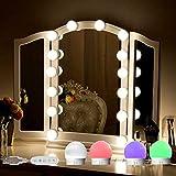 SELFILA 14 Bulbs Full Body Vanity Lights for Mirror, Adjustable RGB Color DIY Hollywood Style Led Vanity Mirror Lights kit Mirror Full Length,Full Body Mirror,Bathroom,Makeup,Stick on Lights