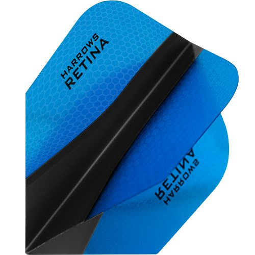 HARROWS retina-x Dart Flights – 5 sets (15) – 100 micron Extra Stark – Standard – Blau