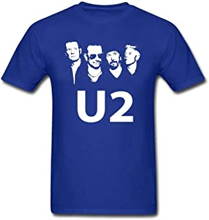 Band U2 Adult T Shirt Casual Custom Made Comfortable Tops Boy Summer Round Neck Tshirts Teenboys Newest Simple Clothes
