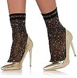 Leg Avenue Women's Hosiery, black/Gold, One Size