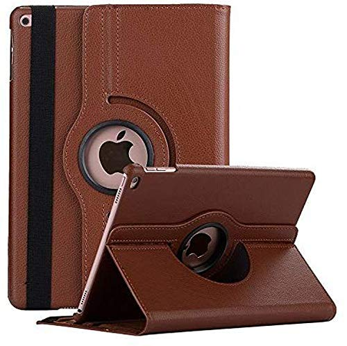 Robustrion Smart 360 Degree Rotating Stand Case Cover for iPad 10.2 inch 7th 8th Generation - Brown