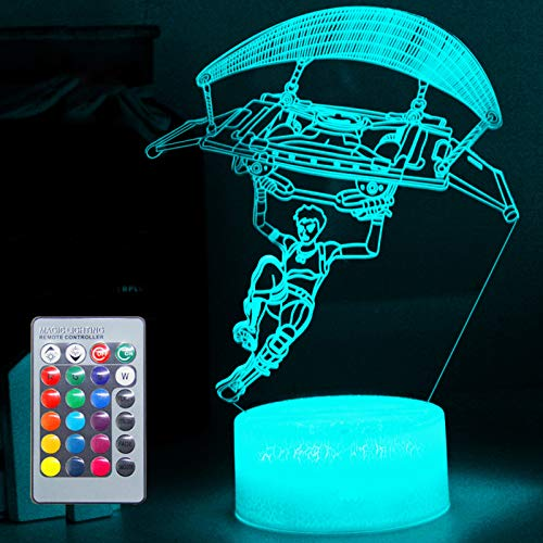 3D Battleroyale Night Light Vision Effect LED Nightstand Lights Nursery Babe Sleeping Lamp Remote Control & 16 Colors Birthday Xmas Festival Deco Gifts for Boys Kids Teens Boyfriend