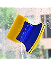 HomeExpo Magnetic Window Cleaner Double-Side Glazed Two Sided Glass Cleaner Wiper with 2 Extra Cleaning Cotton Cleaner Squeegee Washing Equipment Household Cleaner