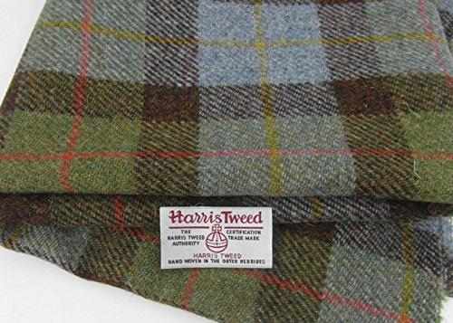 Echter Stoff von Harris Tweed, 100% reine Wolle, mit Etiketten, 75cmx50cm –-Ref. nov34