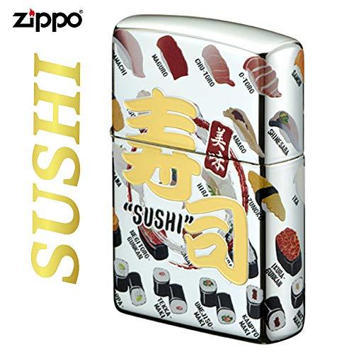 zippo ジッポー オイルライター 寿司 鮨 和柄 SUSHI 魚 日本 4面つなぎネタ柄