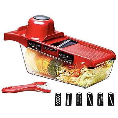 Amazon - 10% Off on Multi-function Vegetable Slicer , Food Slicer 6-in-1 Vegetable Manual Grater