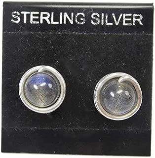 Labradorite & Sterling Silver Post Earrings