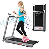 FYC Folding Treadmill for Home Electric Treadmill Running Exercise Machine Portable Compact Treadmill Foldable for Home Gym Fitness Workout Jogging Walking, No Installation Required (JK68-8)