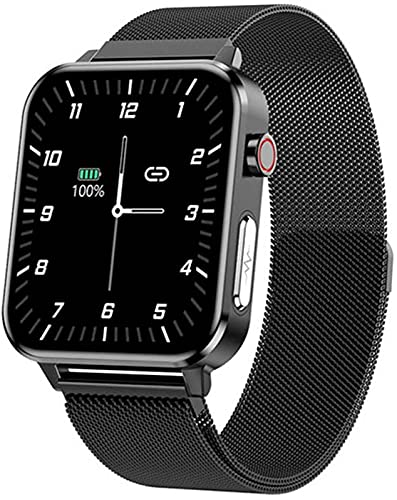 JXFF E86 Bluetooth reloj inteligente temperatura arterial frecuencia cardíaca sueño salud Monitoreo pulsera deporte impermeable Smartwatch (A)