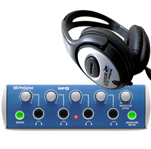 PreSonus HP4 Kopfhörerverstärker + keepdrum Kopfhörer