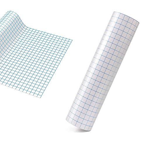 Transferfolie Plotter - 30 * 500cm mit Blaues Ausrichtungsgitter-Übertragungsfolie plotter, Klares Transferband für Vinylpapier, für Abziehbilder, Schilder, Fenster und Aufkleber
