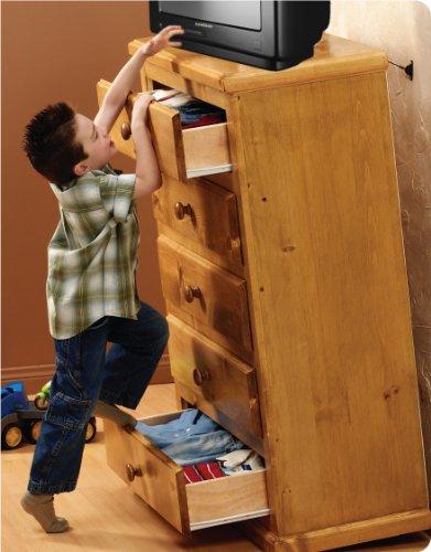 Hangman Anti-Tip Kit - 400 Pound Falling Furniture Prevention Device (TK-400)