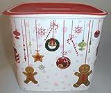 1 A TUPPER A152 quadro tarro para galletas de Navidad de los rodamientos de dulces momentos --- 2, 1L --- Colour rojo y blanco y multicolour