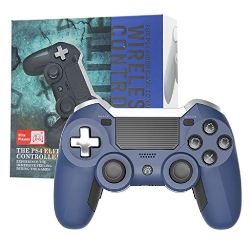 Xuebai RipengPI Bluetooth Wireless für PS4 Gamepad Dual Vibration Elite Spielekonsolen-Controller für PS4 Elite Bluetooth-Controller Blau