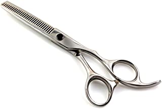 Professional Barber 6.0 Inch Professional Hairdressing Set, Flat Shear + Tooth Scissor Scissors (Color : Silver)