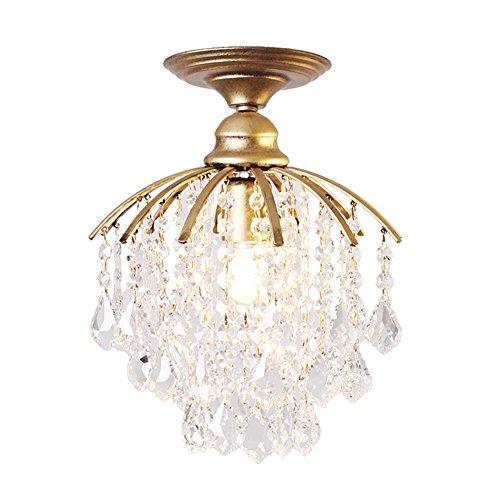 Luxus Kristall Kronleuchter Schlafzimmer Restaurant Eintritt Gang Kreativ Retro Deckenleuchte Pendelleuchte Beleuchtung (Farbe: Gold)