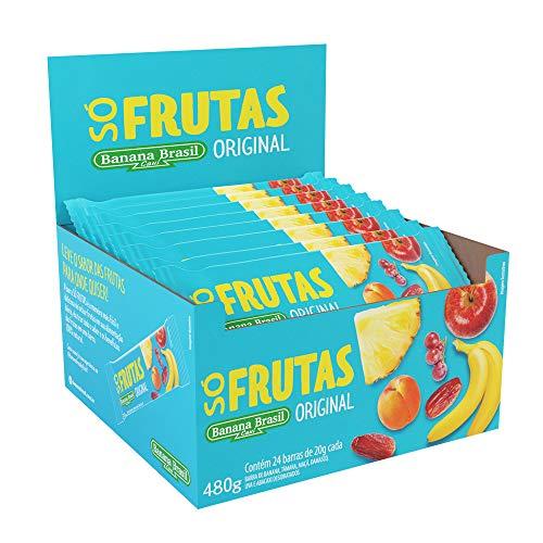 Barra Só Frutas Original Banana Brasil com 24 Unidades de 20G