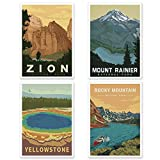 Amerika Zion Mount Rainier Yellowstone Rocky Mountain