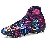 NC - Botas de fútbol para hombre, zapatos deportivos para niños, aptas para exteriores, interiores, juegos, entrenamiento
