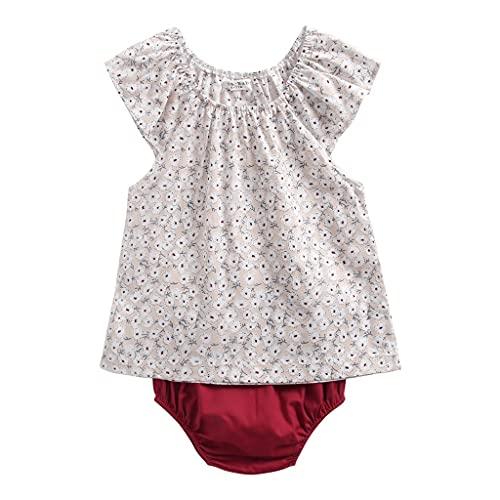 UMore 2 Piezas Bebé Body Mono de Manga Corta Mameluco Algodón Recién Nacido Pijama Bebés Juegos de Regalo