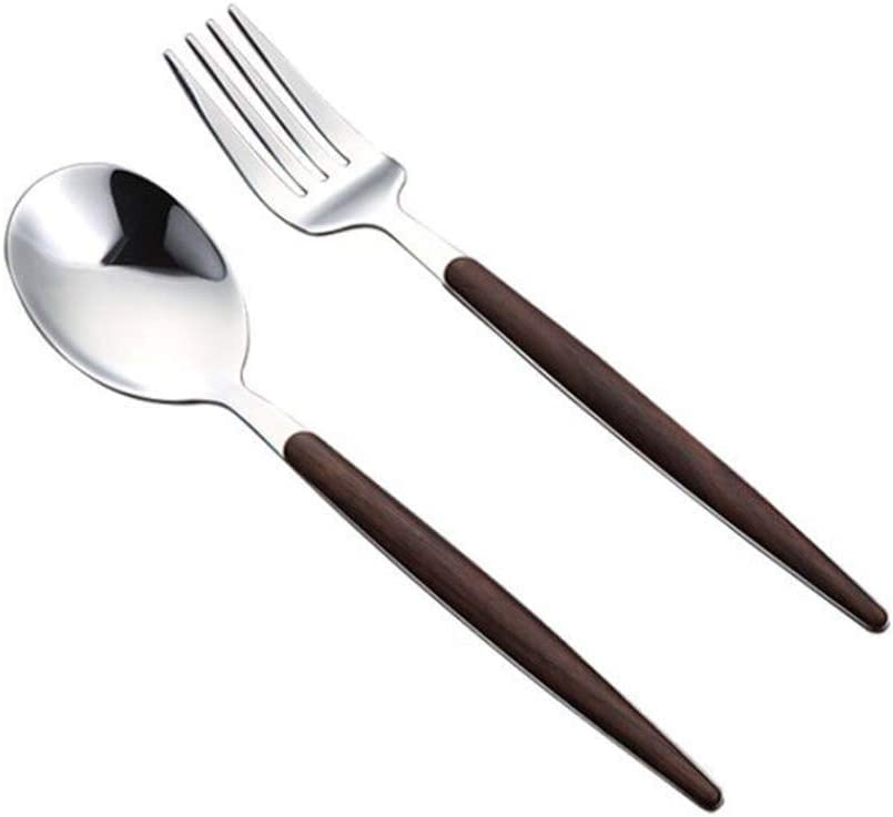Cabilock 2pcs Western Food Tableware Set Steel Cutlery Stainless SEAL limited product Max 88% OFF