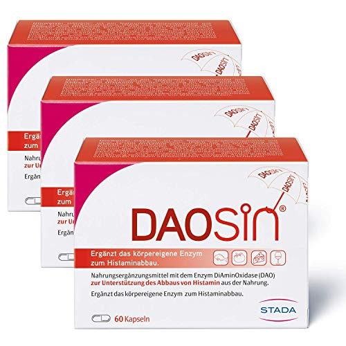DAOSIN – magensaftresistente Kapseln mit Diaminoxidase Enzym – 180 Kapseln
