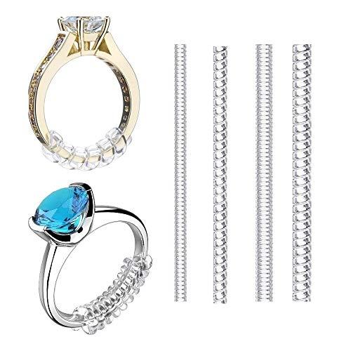 MIN-XL Ringgrößenanpassung, Ring Größenverstellung, Ringgröße Adjuster für Lose Ringe (4 Stück)