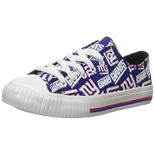 New York Giants High Top Converse Sneaker Slippers, Mens and Womens NFL Sneaker Slippers, Comfy Feet Happy Feet Knit High Boot Slippers