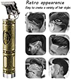 Directtyteam 2020 New Sctualised Version Hair Trimmer Mens Electric Pro T-Outliner Trimmer,120 Minutes
