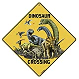 CROSSWALKS Dinosaur Crossing 12' X 12' Aluminum Sign (X289)