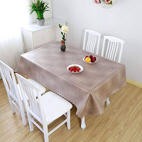 DJUX - Mantel impermeable de color sólido y resistente al aceite de ocio picnic picnic mantel de tela de protección de 110 x 160 cm 136 x 220 cm, caqui, 90*136CM