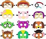 YUESEN Toy Story Máscaras de Fieltro 12PCS Toy Story Suministros temáticos para fiestas Cumpleaños Disfraces Máscara Photo Booth Prop Personaje de dibujos animados Cosplay Juego
