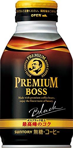 サントリー コーヒー プレミアムボス ブラック 285gボトル缶×24本