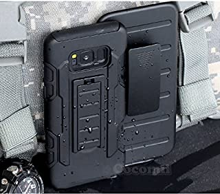 Cocomii Robot Armor Galaxy S8+ Plus Case New [Heavy Duty] Premium Belt Clip Holster Kickstand Shockproof Bumper [Military Defender] Full Body Rugged Cover for Samsung Galaxy S8+ Plus (R.Black)