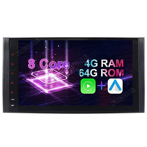 Junhua Android 10.0 8-Core 4GB RAM+ 64GB ROM Autoradio GPS für Mercedes Benz A/B Klasse W169 W245 VITO Viano GPS Navigation Radio DAB+ Mirrorlink Spiegelfunktion OBD2 4G LTE WiFi