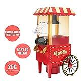 Gadgy Popcorn Maschine, Retro Popcorn Maker, Heissluft Ohne Fett Fettfrei Ölfrei