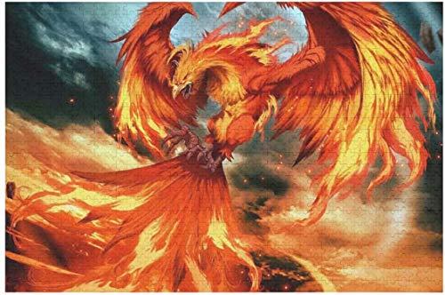my cat Fantasy Fire Phoenix Bird Print Spaß Puzzle für Erwachsene und Kinder 500Pcs / 1000Pcs-1000pieces