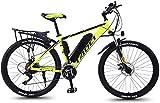 Bicicleta Eléctrica 26 '' Bicicleta eléctrica de montaña con batería de iones de litio de gran capacidad extraíble (36V 350W 8AH) Frenos de disco dual para viajes de ciclismo al aire libre Trabajar co