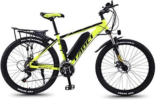 Bicicleta electrica, 26 '' Bicicleta eléctrica de montaña con batería de iones de litio de gran capacidad extraíble (36V 350W 8AH) Frenos de disco dual para viajes de ciclismo al aire libre Trabajar c