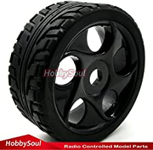 4pcs 1/8 RC Buggy On Road Tires w/ Hex 17mm Wheels Rims For RC 1:8 Car