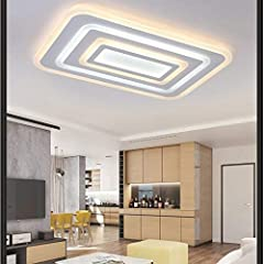 XYJGWDD 84W LED Ceiling Light Ultra Slim Modern Energy Saving LED Dimmable Ceiling Lamp for Living Room Bedroom Kitchen [Energy Class A (Color : White+internal heating) #2
