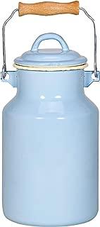 Karl Kruger Sylt Pastell Series Milk Churn, 2 l, Enamel, Blue/Cream, 30 x 13 x 30 cm