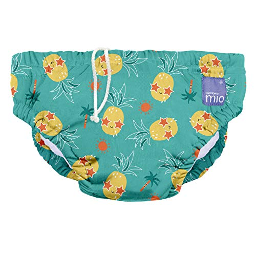 Bambino Mio SWPM PIN Bambino Mio, Wiederverwendbare Schwimmwindel, Alberne Ananas, M (6-12 Monate), mehrfarbig