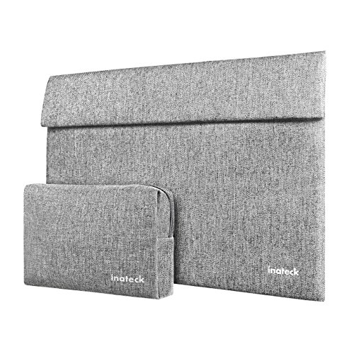 "Inateck Laptop Sleeve Tablet Case for Late 2013 - Early 2016/2017 13 Inch MacBook Pro/New Surface Pro 2017/Surface Laptop 2017/ Surface Pro 4/3, Compatible with iPad Pro 12.9"" - Gray"