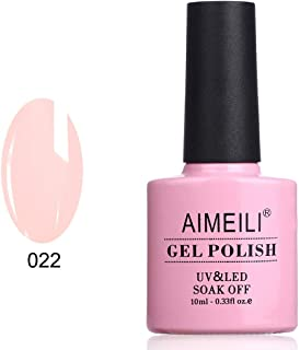 AIMEILI Soak Off UV LED Gel Nail Polish - Rose Nude (022) 10ml