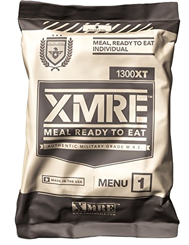 XMRE (Meals Ready to Eat) 2019 Pack Date - 2024 Best By Date - Single Menu (Beef...