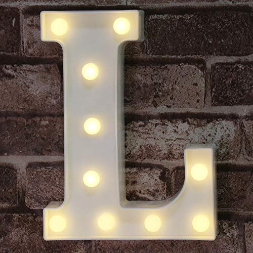 LED Marquee Letter Lights Alphabet Light Up L Sign for Table Wedding Home Party Bar Decoration L