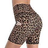 Mujer Mallas Shorts de Yoga, Mujer sexy scrunch tope elevador polainas cortas de cintura altas control de la barriga shotny yoga pantalones cortos corriendo medias deportivas con bolsillos Pantalón Co