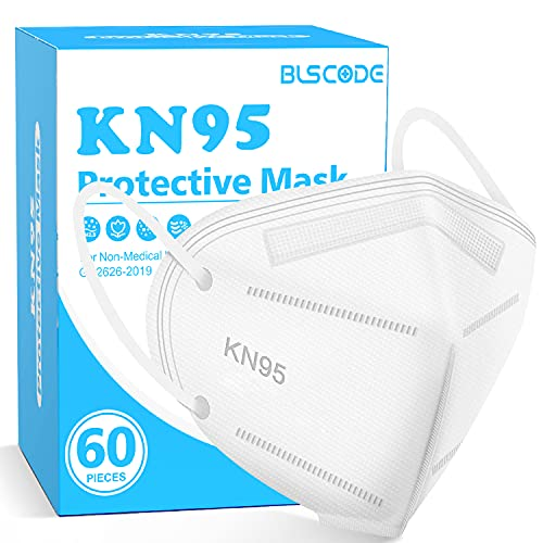 KN95 Face Mask 60 Pack, BLScode Individually Wrapped 5-Layer...
