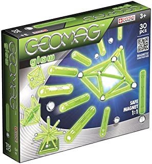 Geomag 335 Glow Magnetic Construction Set, 30-Pieces